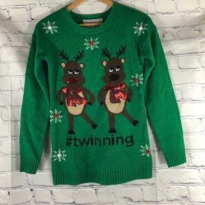 Ugly Christmas sweater Reindeer Twinning  Med